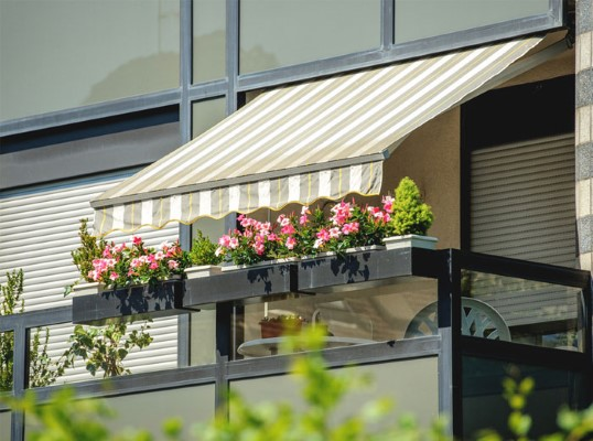 awnings on a balcony