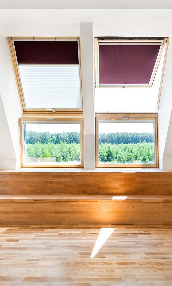 motorised blinds in a loft