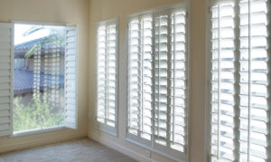 shutters in a lounge area