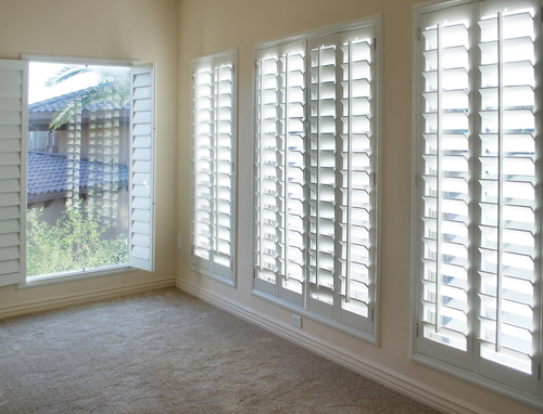 shutters in a living area space